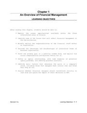Ch. 01 An Overview of Financial Management