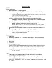 Chem 1110 Final Exam Study Guide