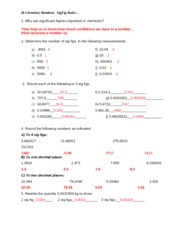 Sig Fig Answers