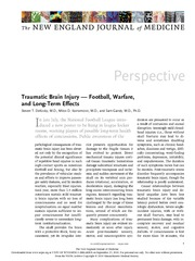 traumatic brain injury. Football, warfare and long-term effects.jpeg