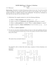 Exam 1 Version 1 Solutions