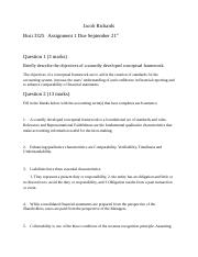 Busi 3325   Assignment 1 Due September 21st
