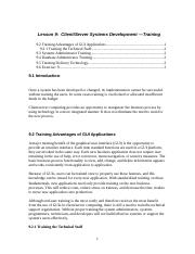 Lesson 9 Client Server Systems Developmen- Training.doc
