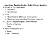 Lecture on Negotiated Decolonialization
