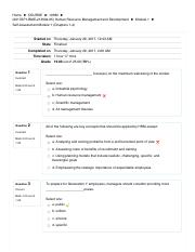 Self-Assessment Module 1 (Chapters 1-4)