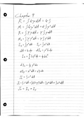 Statics Chapter 9 Notes Moments of Inertia