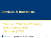 SUM11_Week 4b - Interfaces & Interactions