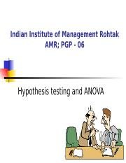 ANOVA & HT - PPT - 28 July