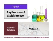 CHEM 102 Lecture Presentation Chapter 18 - Applications of Stoichiometry