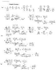 Complex Fractions 1