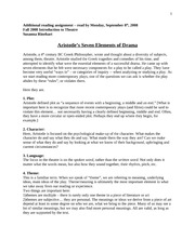 Aristotle's 7 Elements of Drama
