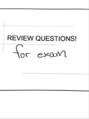 Statistics - Review Questions for Exam