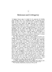 Reference and Contingency