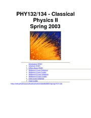PHY132 Sp03 Course Info