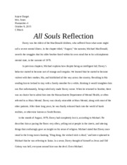 all souls reflection