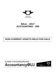 Learning guide - Non-current assets held for sale (2017)