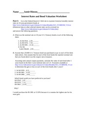 MBA 737 InterestRatesWorksheet Hinson Assignment 2-2