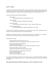 Reflections Paper- Guidelines