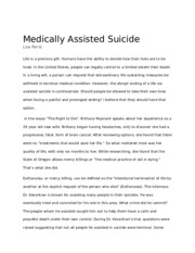 medically assisted suicide essay