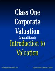 Class_One_Corporate_Valuation