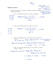 Solutions Exam 2 Review