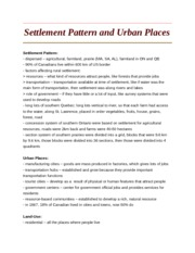 Settlement Pattern and Urban Places