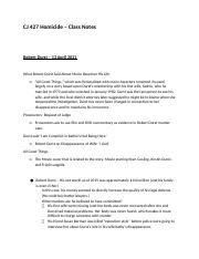 CJ 427 Homicide Class Notes - Exam 3.docx