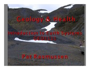 Lecture 18 - Geology and Health