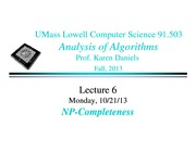 Lecture Notes E on Analysis of Algorithms