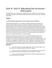 AC114-Accounting1 Unit04 Discussion.docx