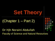 CHAPTER 1 - PART 2 - SET THEORY