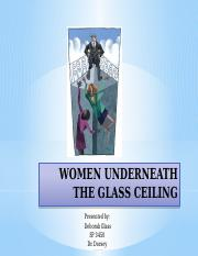 WOMEN UNDERNEATH THE GLASS CEILINGppt