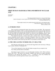 First Human Made Reactor and Birth of Nuclear Age