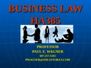 Business Law HA385- Employment Law