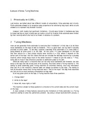 Lecture 4 Notes Turing Machines