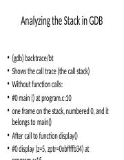 Analyzing the Stack in GDB.pptx