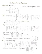 7.1-7.2 Diagonalization of Matrices