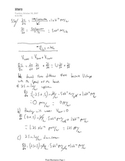 Fluid Mechanics HW8