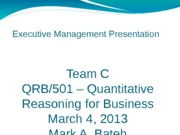 QRB501 week 6 final team project