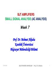 CME 224-WEEK 7 SMAL SIGNAL-BJT AMP