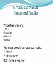 Chapter 8 Voice and Musical Instruments