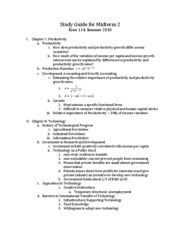 Study Guide for Midterm 2