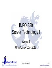 3 - Unix and Linux Concepts
