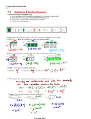 Divide and Multiply Polynomial Notes