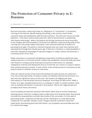 The_Protection_of_Consumer_Privacy_in_E-Business-11_13_2010