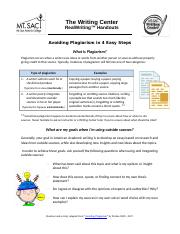 Avoiding Plagiarism in 4 Easy Steps.docx