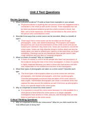 Forensics - Unit 2 Text Questions .docx