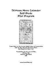 13-Moon Self Study Pilot Program
