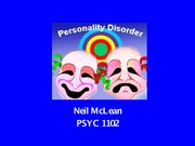 L15 Personality disorders