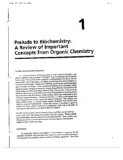 ORGANIC chemistry review handout